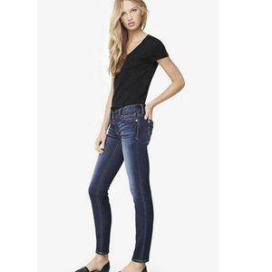 Express Stella Low Rise Skinny Blue Jeans
